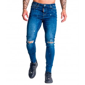 Jeans Gianni Kavanagh 2310 Medium BLue JEans With White Splashes