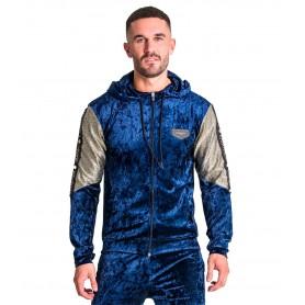 Sudadera Gianni Kavanagh 2335 Dark Blue Velvet Hoodie Jacket