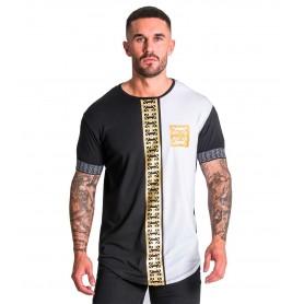 Camiseta Gianni Kavanagh 2294 Black White GK Monogram Tee With Gold Print