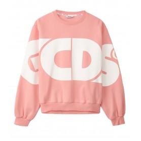 Comprar Sudadera CC94M021005 GCDS Macro Logo Round Crewneck Pink