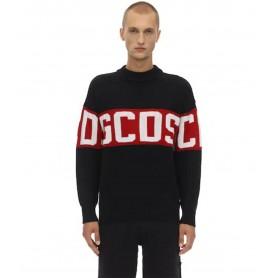 Comprar Jerséis CC94M021150 GCDS Logo Sweater Black