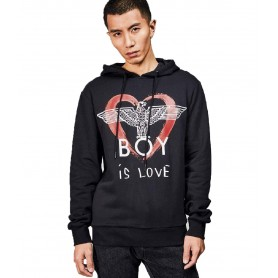 Comprar Sudadera 2332001 Boy London Boy Is Love Hood Black