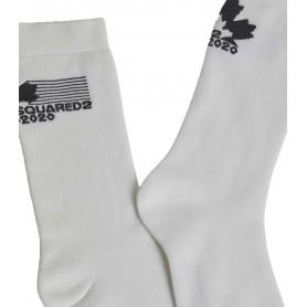 Comprar Calcetines DFV171970 Dsquared2 Mid Crew Socks White