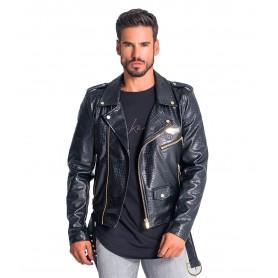 Comprar Chaqueta Gianni Kavanagh Black Crocodile Biker Jacket