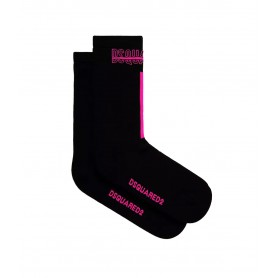 Comprar Calcetines DFV171950 Dsquared2 Mid Crew Socks Black Pink