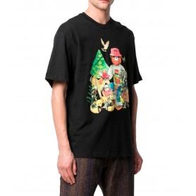 Comprar Camiseta 1990007 Chinatown Smiley Friends Tee Black