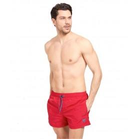 Comprar Guess - Bañador para Hombre Rojo - Etiqueta Con Logo