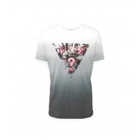 Comprar Guess - Camiseta para Hombre Gris - Logo Palmeras