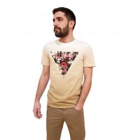Comprar Guess - Camiseta para Hombre Beige - Palm Beach CN SS