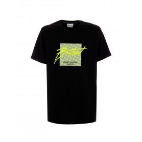 Comprar Butnot - Camiseta para Hombre Negra - Patch Firma Fluo