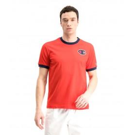 Comprar Champion - Camiseta para Hombre Roja - Contrast C Logo