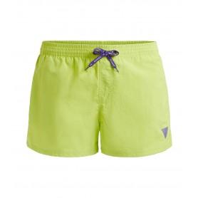 Comprar Guess - Bañador para Hombre Verde Etiqueta Con Logo