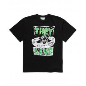 Comprar Aries - Camiseta para Hombre Negra - They Live SS Tee