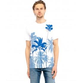 Comprar Guess - Camiseta para Hombre Blanca - Palmeras White