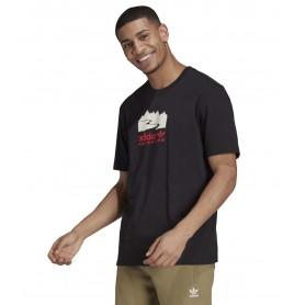 Comprar Adidas - Camiseta para Hombre Negra - Adventure Logo