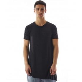 Comprar Am Couture - Camiseta para Hombre Negra - Asimmetrica