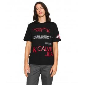 Comprar Calvin Klein Jeans - Camiseta para Hombre Negra - Multi