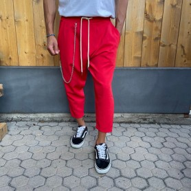 Comprar Finest Milan - Pantalón para Hombre Rojo - Japan