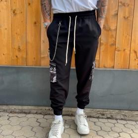 Comprar Finest Milan - Pantalón para Hombre Negro - Cargo