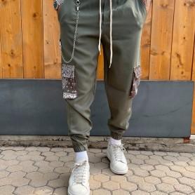 Comprar Finest Milan - Pantalón para Hombre Verde - Cargo