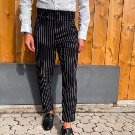 Comprar Finest Milan - Pantalón para Hombre Negro - Gessato