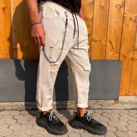 Comprar Finest Milan - Jeans para Hombre Beige - Elástico