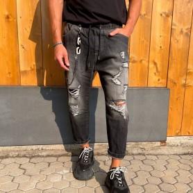 Comprar Finest Milan - Jeans para Hombre Negro - Elástico Black