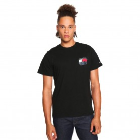 Comprar Tommy Jeans - Camiseta para Hombre Negra - 3D Glow Flag