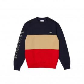 Comprar Sudadera SH6904 Lacoste Colorblock Navy Red