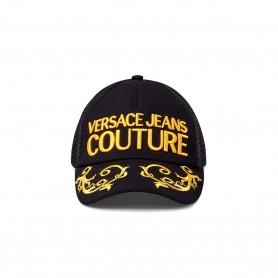 Comprar Versace Jeans Couture - Gorra Negra - Bordada Baroque